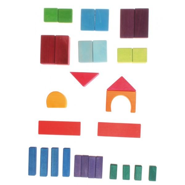 Grimms Blokken geometrisch gekleurd 30