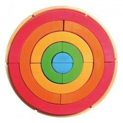 Grote regenboog cirkel