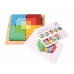 Puzzel mini vierkant met spelvormen
