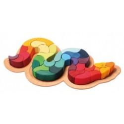 Puzzel regenboog slang