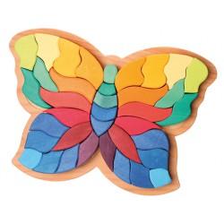 Puzzel vlinder groot