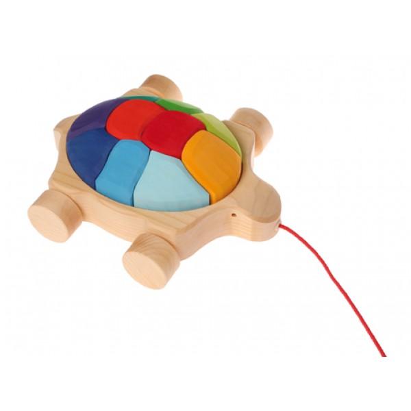 Schildpad regenboog met koord