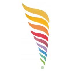 Mobile regenboog vleugels