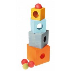 Kubus balanceerspel kistjes