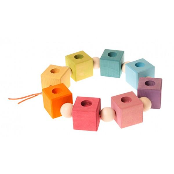 Grimms Verjaardag ring kubus of dobbelsteen regenboog