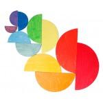 Grimms Halve cirkels groot regenboog