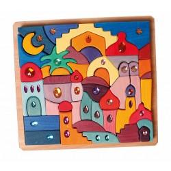 Bouwset puzzel glitterstenen Orient 1001 nacht