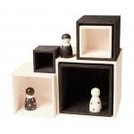 Grimms Kistjes groot in monochroom zwart/wit
