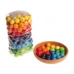 Grimms Kralen pastel kleuren 120Kralen regenboog kleuren 180