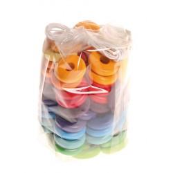 Schijven regenboog kleuren 60