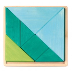 Tangram blauw groen