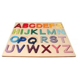 Alfabet letters A tot Z op bord
