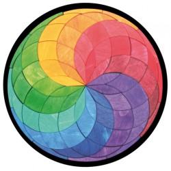 Magneetpuzzel kleurenspiraal groot