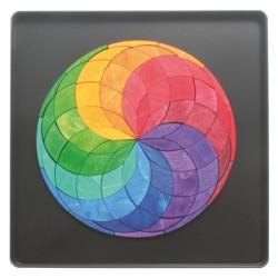 Magneetpuzzel kleurenspiraal