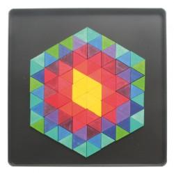 Magneetpuzzel hexagon driehoek