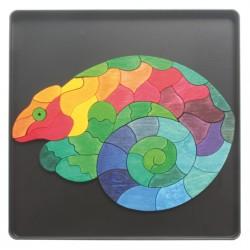 Magneetpuzzel Kameleon