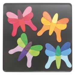 Magneetpuzzel 4 vlinders