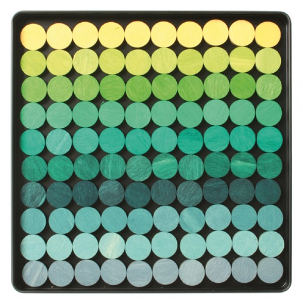 Magneetpuzzel Stippen groen