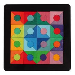 Magneetpuzzel cirkel in vierkant