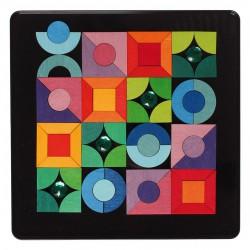 Magneetpuzzel basisvormen driehoek vierkant cirkel