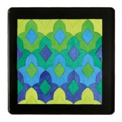 Magneetpuzzel Marrakech lelie blauw groen