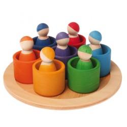 Regenboog vrienden 7 in schaal