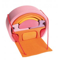 Poppenhuis roze-oranje
