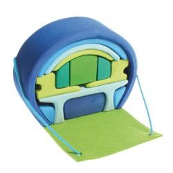 Poppenhuis blauw-groen