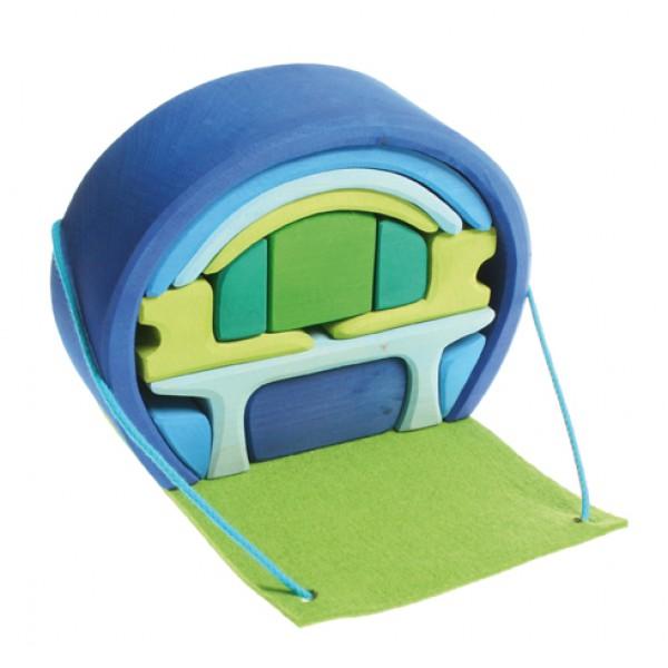 Grimms Poppenhuis blauw-groen