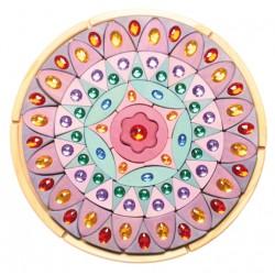 Mandala glinsterend roze