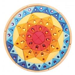 Mandala glinsterend zon