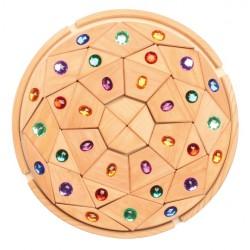 Mandala glinsterend naturel
