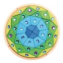 Mandala glinsterend blauw groen