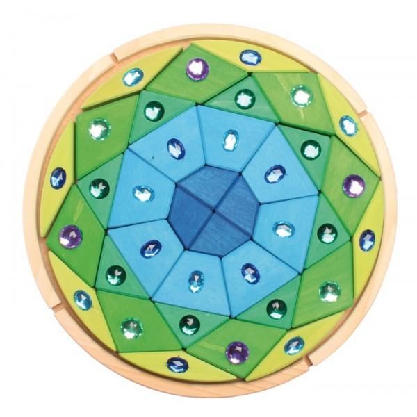 Grimms Mandala glinsterend blauw groen