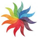 Mandala puzzel kleuren spiraal groot