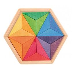 Puzzel mini ster complementaire kleuren