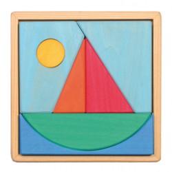 Puzzel zeilboot