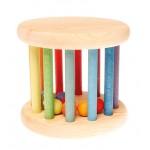 Grimm's Babyroller met bel regenboog kleuren