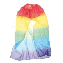 Speelzijde regenboog cape