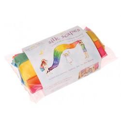 Speelzijde regenboog doek extra groot