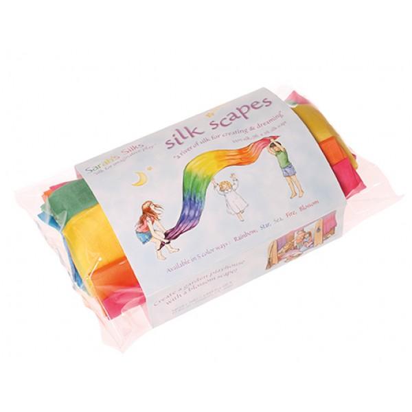 Grimms Speelzijde regenboog doek extra groot