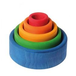 Schalen set gekleurd buiten blauw