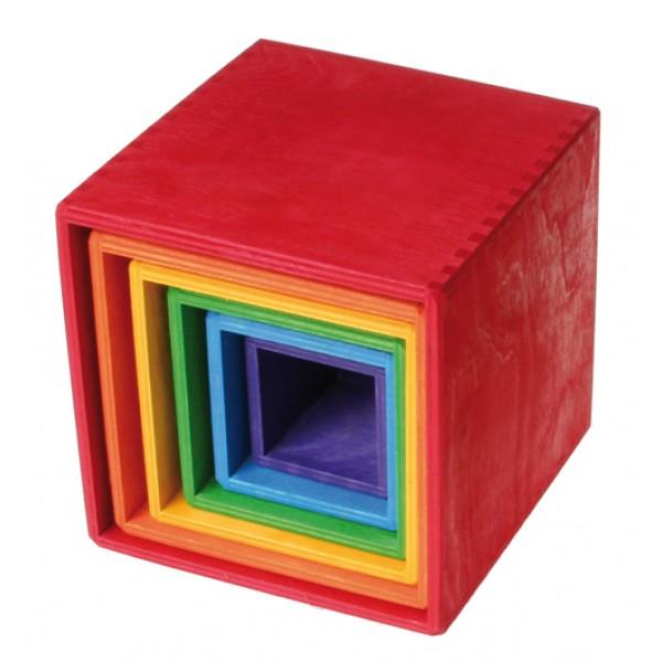 Grimms Kubus regenboog kistjes