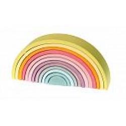 Regenboog groot pastel kleuren
