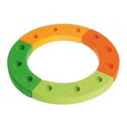 Jaarring 12 groen oranje