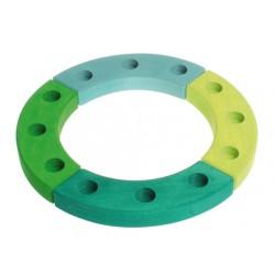 Jaarring 12 groen blauw