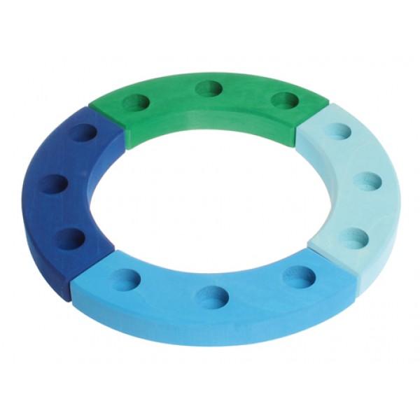 Grimms Jaarring 12 blauw groen