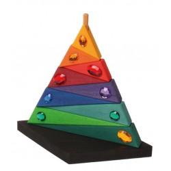 Pyramide met glitterstenen