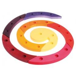 Spiraal 24 rood paars