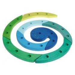 Spiraal 24 blauw groen